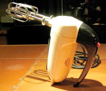 vintage hand=held electric mixer