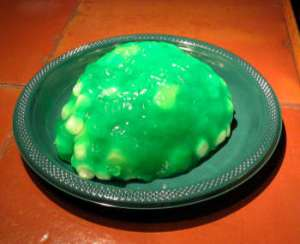 lime Jell-O marshmallow brain surprise