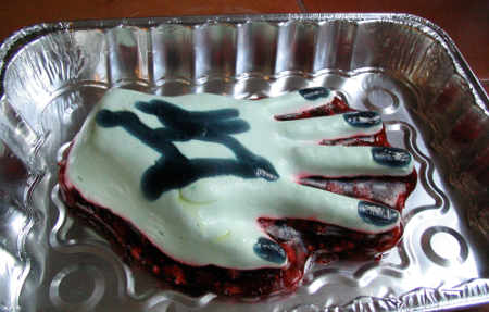 Hand of Glory in aluminum baking pan