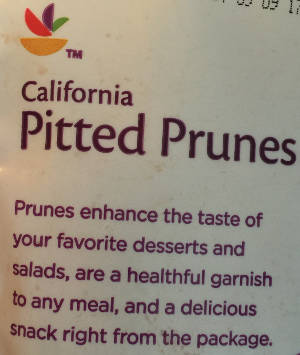California Pitted Prunes - Prunes enhance the taste of your favorite desserts and salad, are a healthful garnish to any meal, and a delicious snack right from the package.