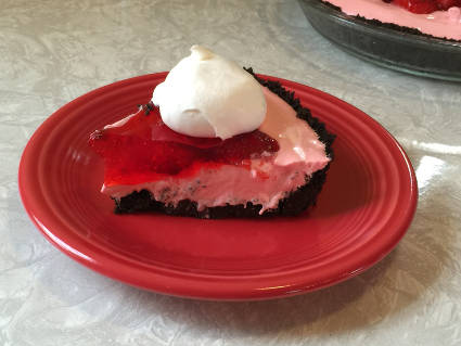 slice of the pie with a dollop of Cool Whip on top