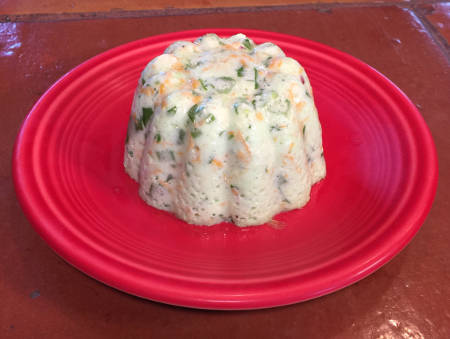 small Garden Souffle Salad mold on plate