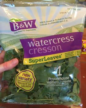 bag of store-bought watercress