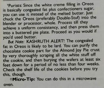 kathrut note concerning Oreos stuf