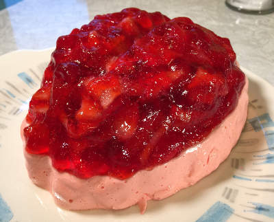 closeup of brain-shaped Jell-O mold