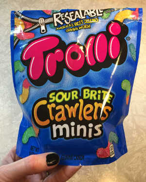 package of Trolli Sour Brite Crawlers Minis