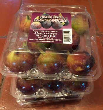 three packages of fresh figs