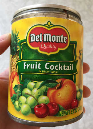 can of Del Monte fruit cocktail